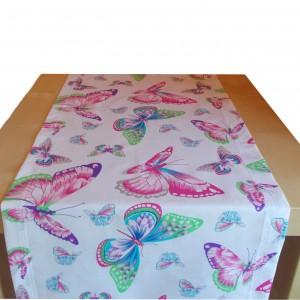 Bieżnik na stół w motyle