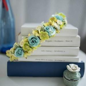 Kwiatowy wianek na głowę, ślubny, komunijny ,sesja fotograficzna