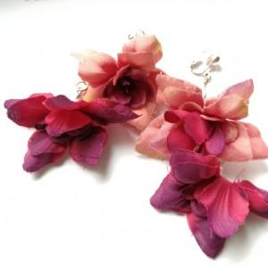 klipsy kwiatowe lekkie wiosenno-letnie