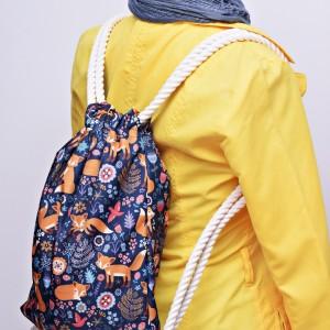 Workoplecak wodoodporny, worek plecak, torba na plecy, worek ze sznurami, plecak wodoodporny liski