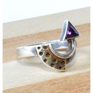 51 pierścionek vintage, srebrny, oryginalny, niespotykany kształt; na prezent, na co dzień;