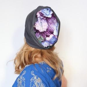 czapka wiosenna dresowa damska