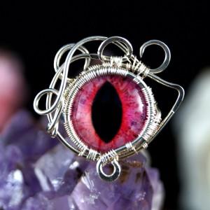 Kocie oko, srebrny pierścionek ręcznie wykonany, prezent dla niej, prezent dla mamy, prezent urodzinowy, niepowtarzalna biżuteria autorska