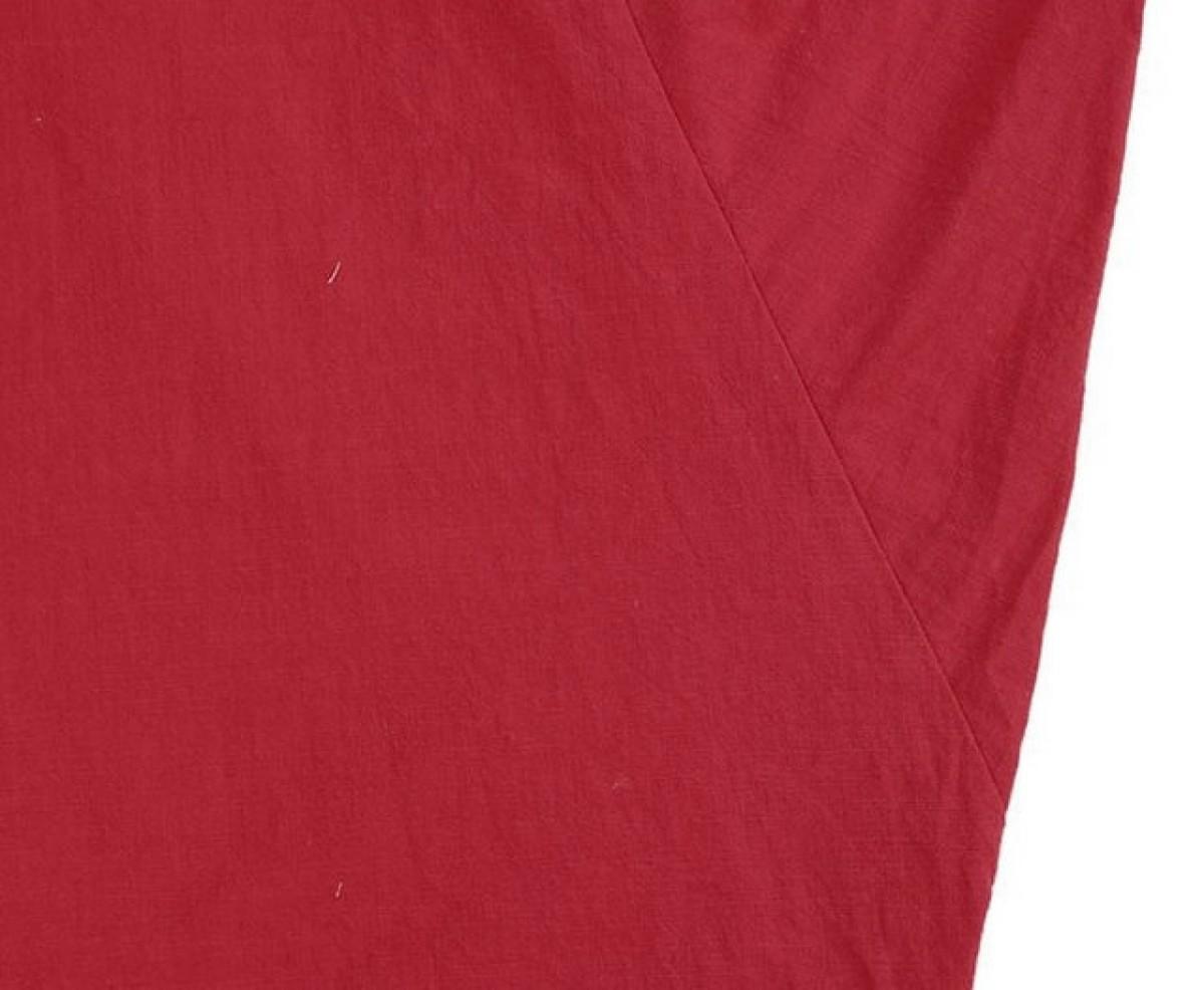 lniana czerwona sukienka oversize L