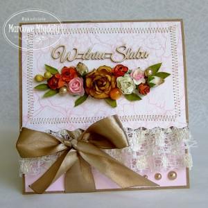 Ślubna kopertówka w stylu vintage