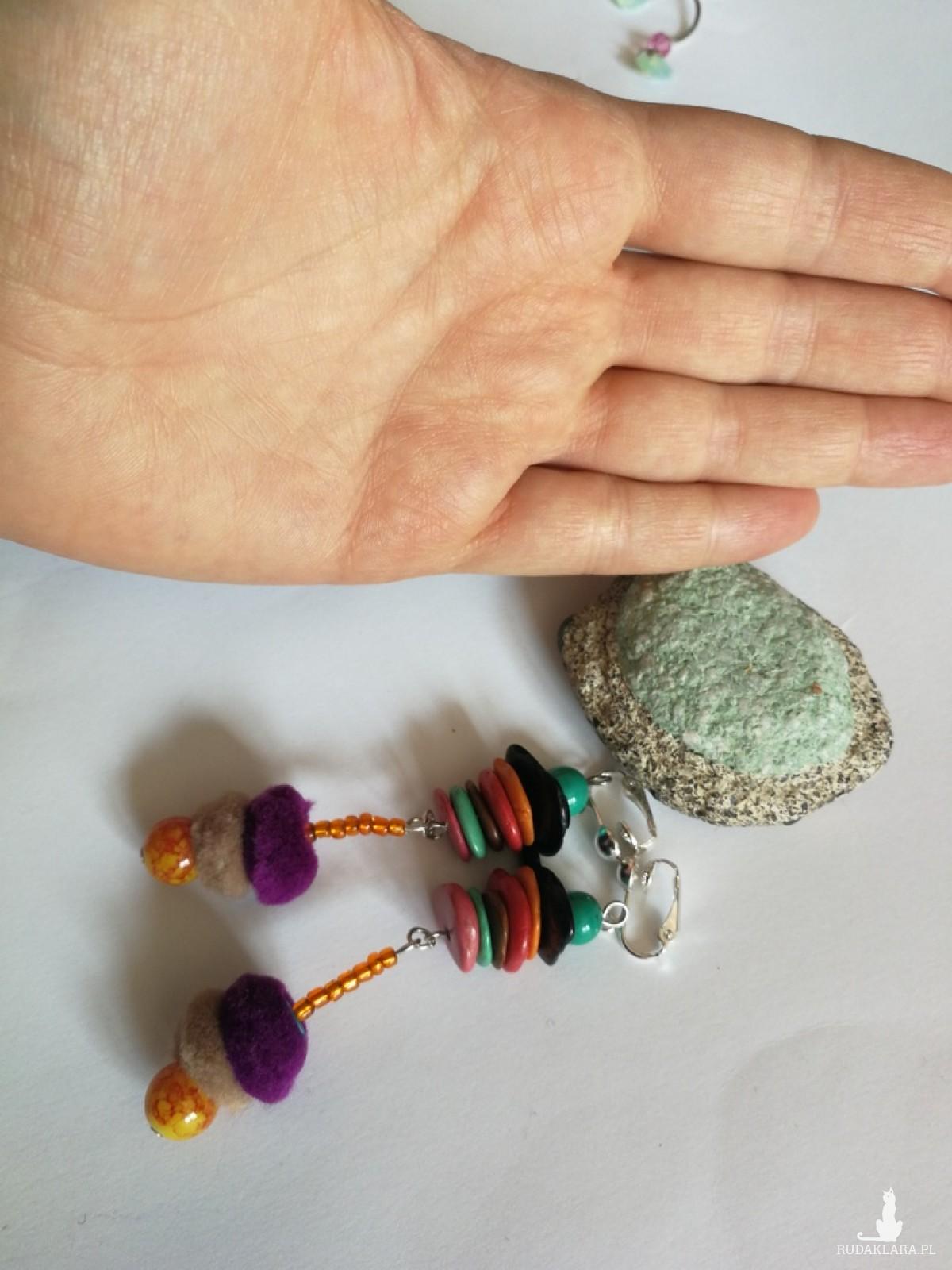 klipsy wiszące folk puszki etno boho
