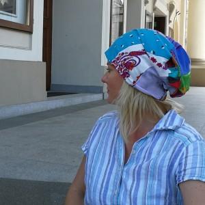 czapka damska etno boho wiosenna codzienna