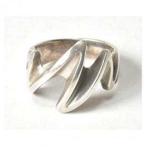 75 pierścionek vintage, srebrny, oryginalny, duży pierścionek; na prezent, na co dzień;