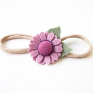 Opaska do włosów z kwiatuszkiem liliowym