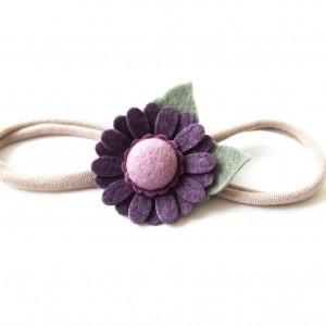 Opaska do włosów z kwiatuszkiem jagodowym