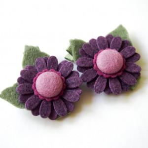 Spinki do włosów kwiatki jagodowe