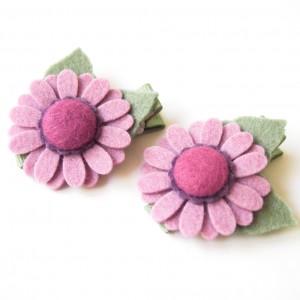 Spinki do włosów kwiatki liliowe