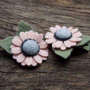 Spinki do włosów kwiatki pink