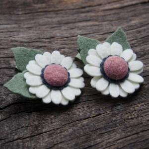 Spinki do włosów kwiatki kremowe