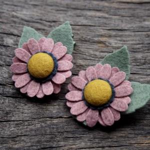 Spinki do włosów kwiatki cameo pink