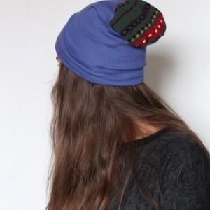 czapka unisex dzianina z wełną