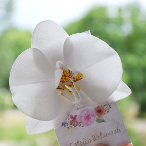 WEDDING HAIRCLIP ORCHID