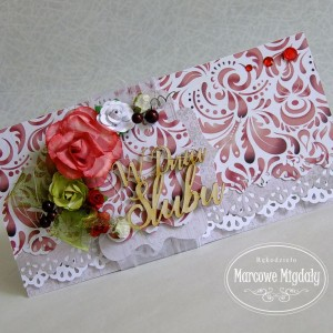 Ślubna kopertówka burgund