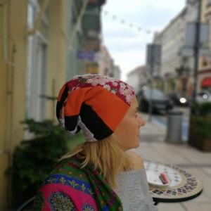 czapka szyta patchworkowo boho folk etno
