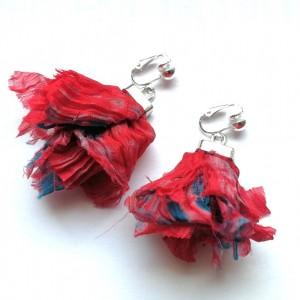 klipsy flamenko kolorowe lekkie folk