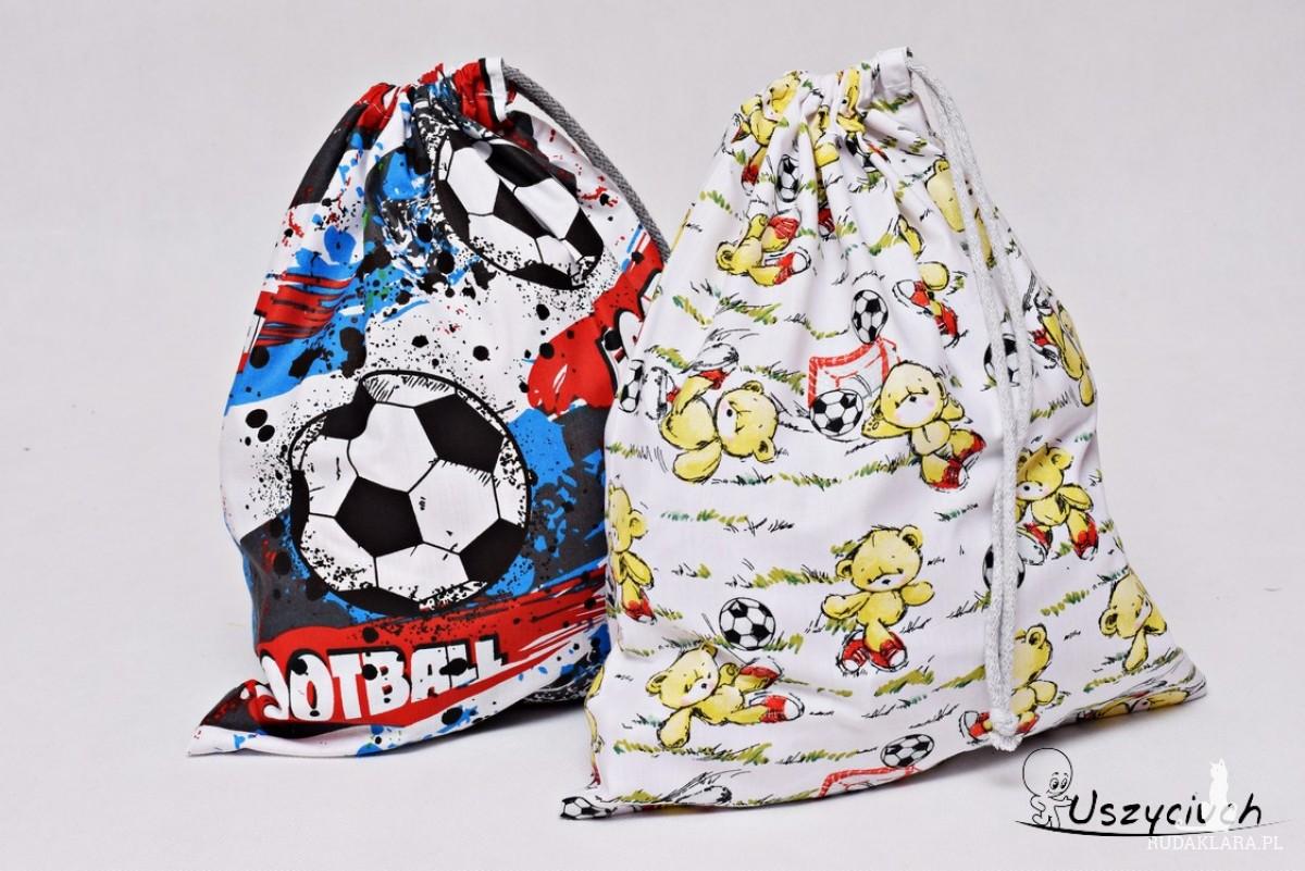 Worek na buty worek na kapcie do przedszkola do szkoły worek szkolny na ubrania piłka football