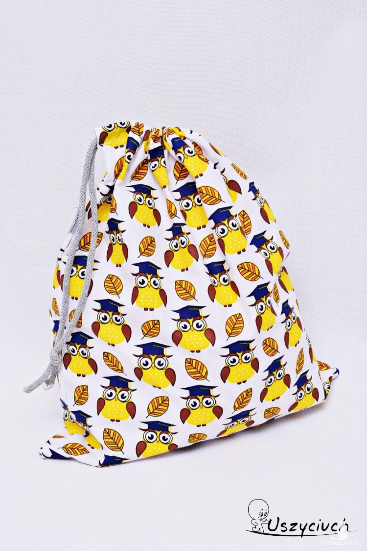 Worek na buty worek na kapcie do przedszkola do szkoły worek szkolny na ubrania sowy