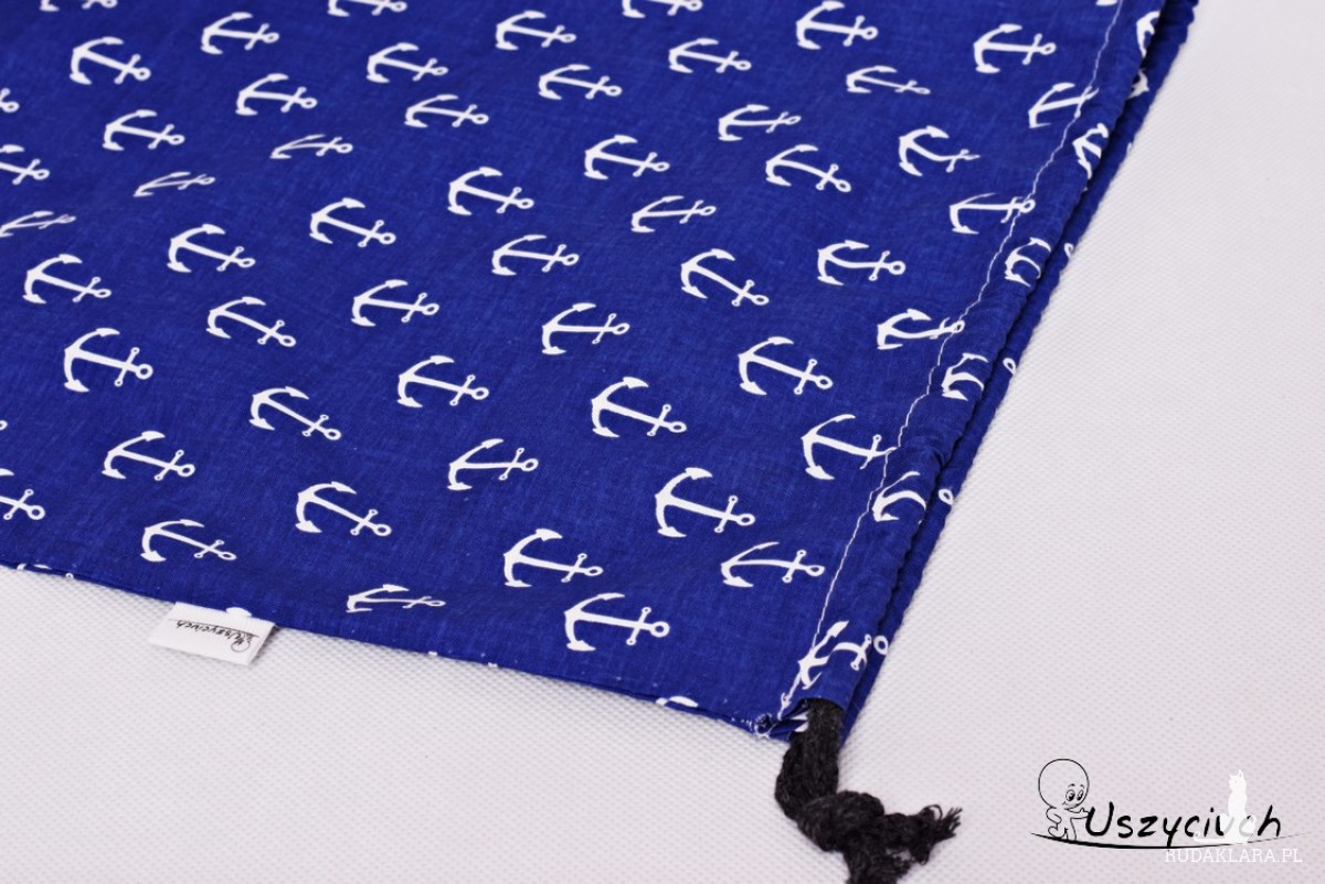 Worek na buty worek na kapcie do przedszkola do szkoły worek szkolny na ubrania kotwice niebieskie