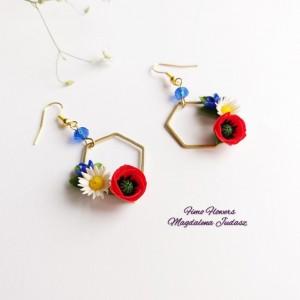 Kolczyki z polnymi kwiatami