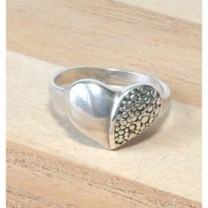 84 pierścionek vintage, srebrny, oryginalny pierścionek, serce; na prezent, na co dzień;