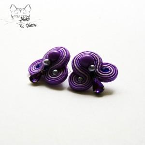 Małe kolczyki sutasz - fioletowe