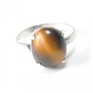 86 pierścionek vintage, srebrny, oryginalny pierścionek, tygrysie oko; na prezent, na co dzień;