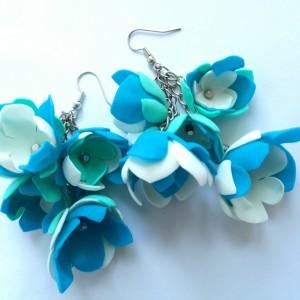 kolczyki kwiaty lekkie flamenco