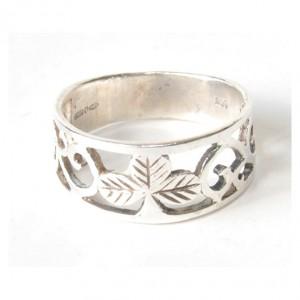 88 srebrna obrączka, obrączka vintage; celtycki wzór; mały rozmiar;