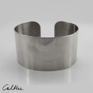 Gładka - metalowa bransoletka szeroka 190804-09