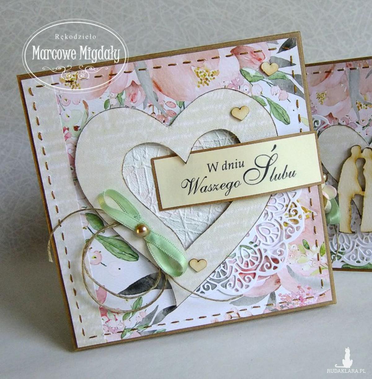 Ślubna kartka Boho w pudełku