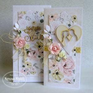 Romantyczna ślubna kartka w pudełku