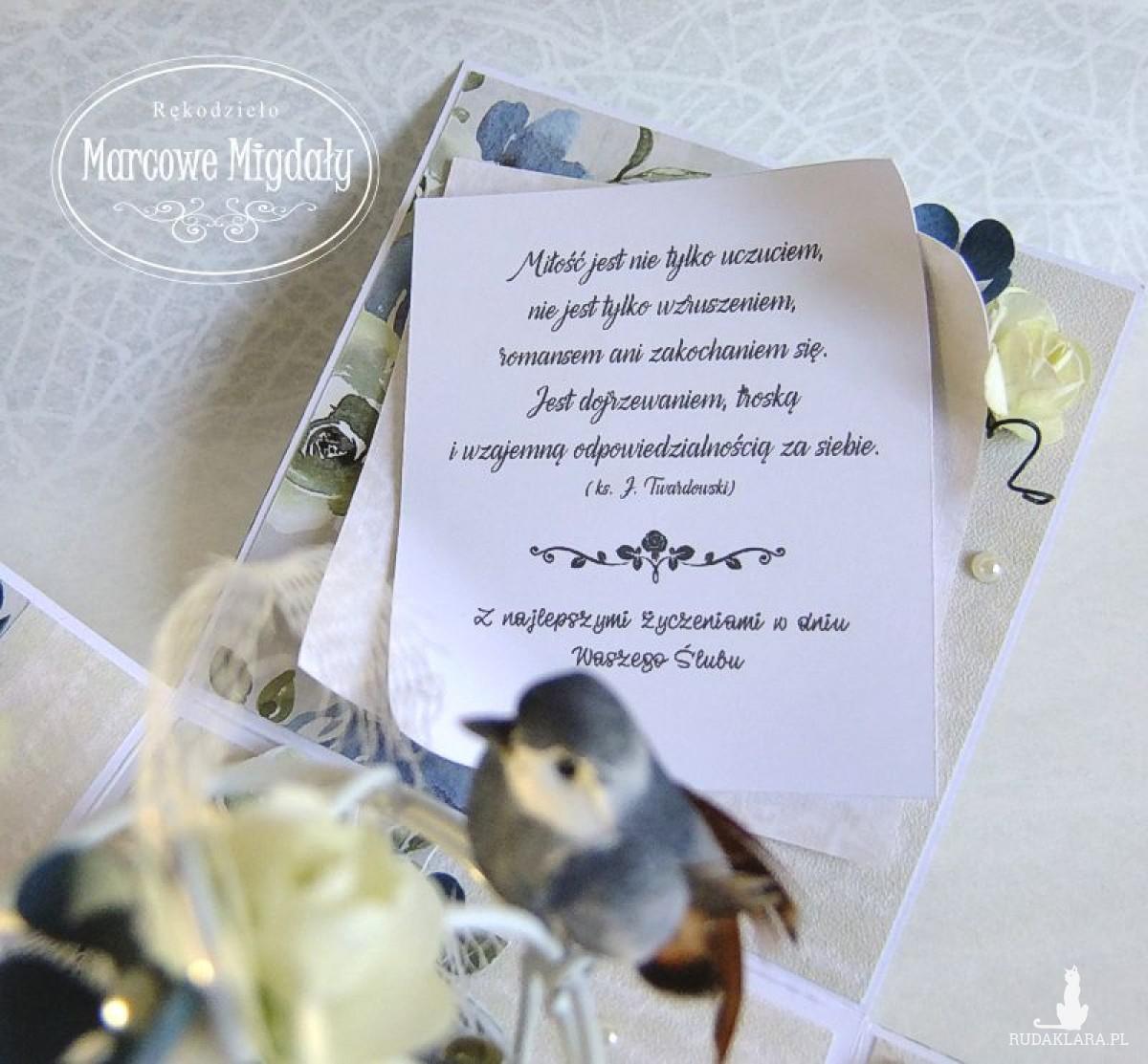 Ślubny exploding box Ptasi Ogród, kartka na ślub