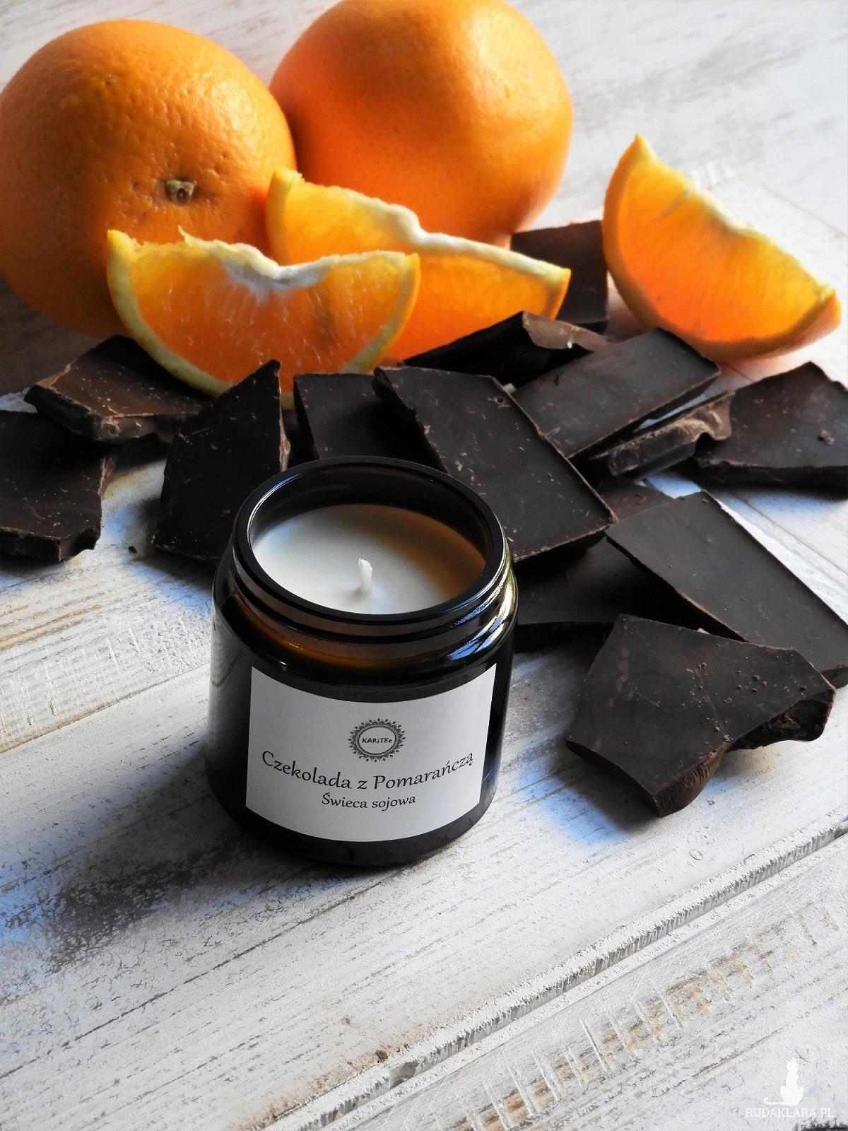 Zapachowa świeca sojowa Czekolada z Pomarańczą