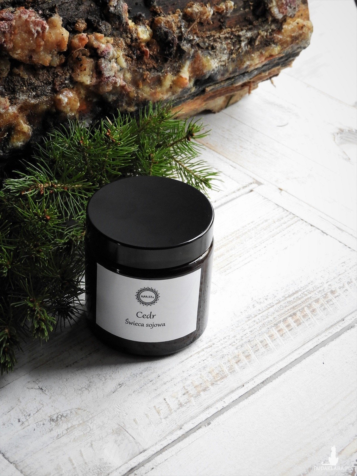Naturalna, zapachowa świeca sojowa Cedr