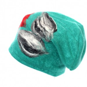 czapka wełniana filcowana handmade