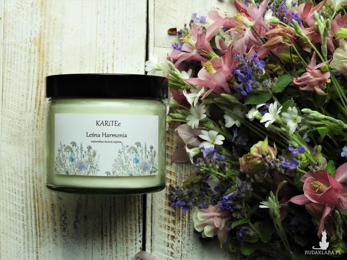 Duża naturalna świeca zapachowa LEŚNA HARMONIA