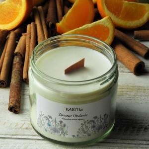 Naturalna świeca zapachowa- sojowa ZIMOWE OTULENIE