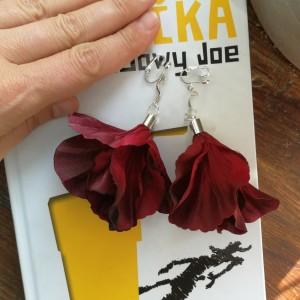 klipsy kwiaty lekkie duże boho- box x1-uwaga poezja