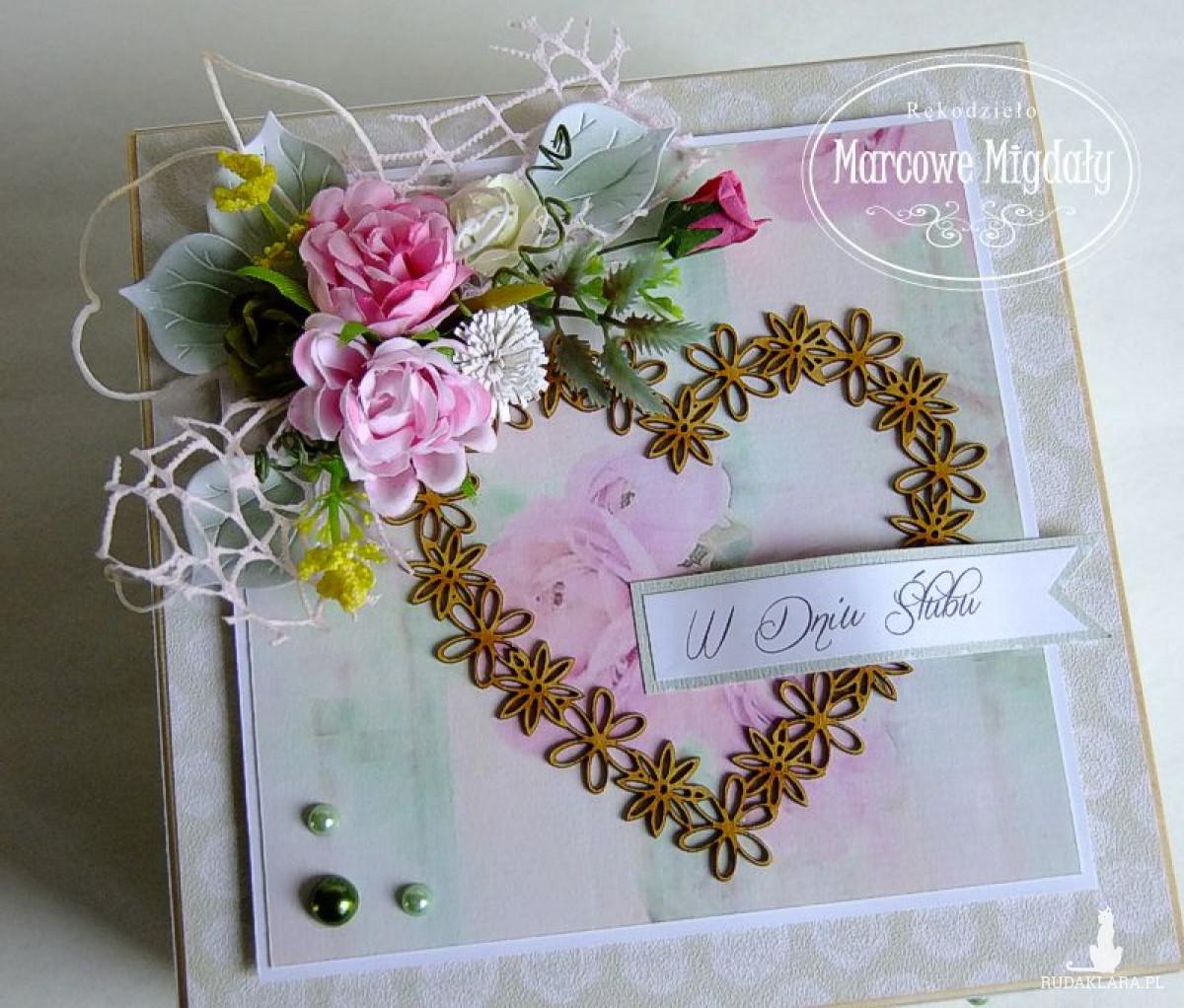 Niezbędnik małżeński, skrzynka ślubna z przegródkami Romantyczna Łąka