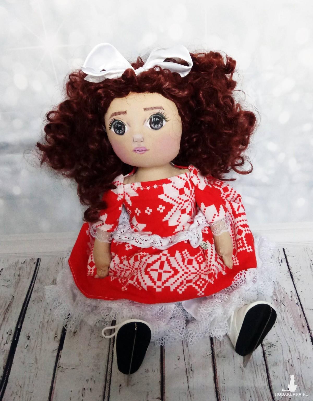Lalka na łyżwach handmade