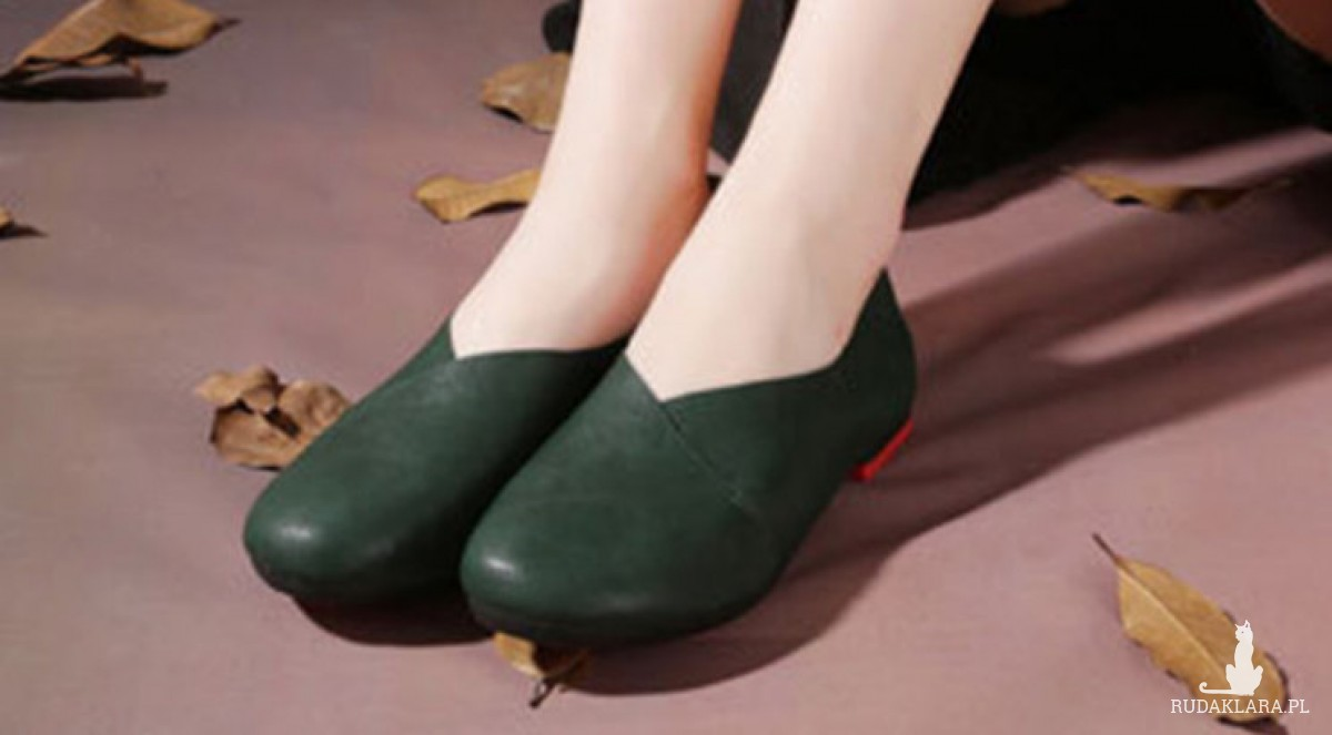 buty ciemno zielone baleriny rozmiar 38