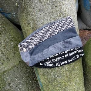 czapka turbanowa etno boho patchwork- box 44- uwaga poezja-ej dresie gdzie cie niesie?