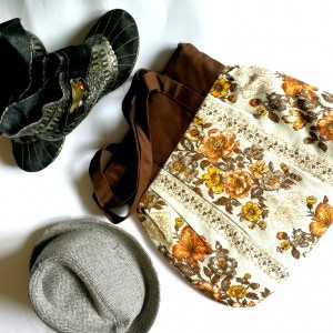 torba damska z motywem kwiatów