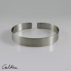 Satyna - srebrna bransoleta wąska 190216-01