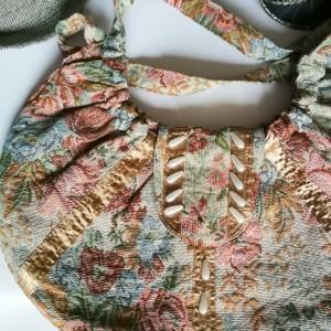 torba damska gobelinowa w kwiaty